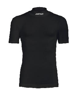 JARTAZI 9028 - T-Shirt Thermo Moulant Courtes Manches en Noir ou Blanc Pour Homme Enfant Idéal Pour Sport Football Plusieurs Tailles