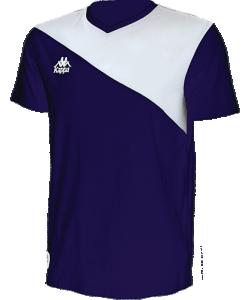 KAPPA Jacurso 303X6P0 - T-Shirt Coton Homme Plusieurs Couleurs Tailles Logo Authentique Brodé sur Poitrine Banda Imprimée au Dos Empiècement Contrasté Asymétrique