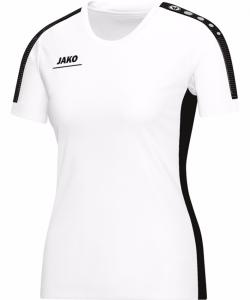 JAKO Striker 6116W - T-Shirt Femme Dames Col Rond en Ripp Plusieurs Couleurs Tailles Haute Performance Confortable