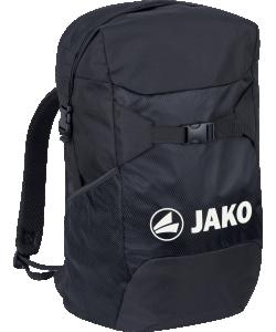 JAKO 1830 - Sac à Dos City Noir Taille Unique Bandoulière Réglable avec Fermeture Rapide Compartiment de Sécurité Zippé Rolltop avec Fermeture Magnétique