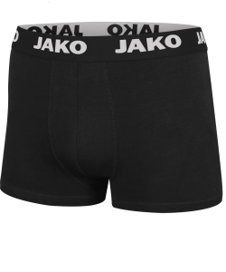 JAKO 6204 - Basic Boxer Shorts 2-pack For Men Single-Stretch-Jersey Several Colors Sizes Comfortable Edge Quick-Drying Material For Pleasantly Dry Comfort Flatlock Seams