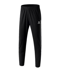ERIMA 3100702 - Pantalon Entraînement avec Empiècements aux Mollets et Piping Homme Enfants Plusieurs Couleurs Tailles Confort Première Classe Coupe Étroite