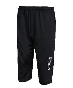 PATRICK SPROX215 - Pantalon 3/4 d'Entraînement en Noir ou Bleu Marin Homme Enfant Taille Élastiquée Différentes Tailles Idéal Pour le Sport en Été ou Printemps