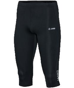 JAKO 6715M - Cuissard Capri Run Noir Homme Plusieurs Tailles Poche Arrière Avec Fermeture Éclair Réfléchissante Poche Clé Sur Bord Intérieure