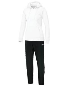 JAKO Team M9533W -  Survêtement Jogging Loisir avec Sweat à Capuchon Femme Dames Poche Cousue Plusieurs Couleurs Tailles Bord Élastique avec Cordon de Serrage