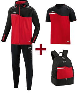 JAKO EOS10018 Competition 2.0 - Optimal Training Kit - Hooded Polyester Tracksuit - T-Shirt - Backpack - Several Colors Sizes