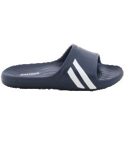 PATRICK RIDE-010 - Mules en Bleu Marin Foncé ou Noir Homme Femme Pantoufles de Bain pour Sportifs Résistants Haute Qualité Plusieurs Pointures