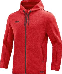 JAKO 6829M Premium Basics - Veste à Capuchon Hommes Coupe Sportive Plusieurs Couleurs Tailles Poches Latérales Effet Mélange Zippergarage