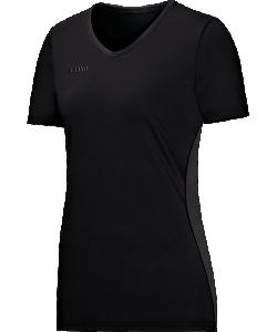 JAKO 6112 - T-Shirt Move Femme Dames Plusieurs Couleurs Tailles Confortable Insertions Élastiques en Mesh Impression Logo Tonale