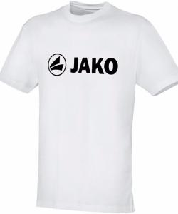 JAKO Promo 6163 - T-Shirt Coton Homme Enfants Col Rond Plusieurs Couleurs Tailles Confortable Grand Logo Imprimé Idéal Pour Loisir