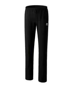 ERIMA 1100704 Miami 2.0 - Pantalon Présentation Femme Couleur Noir Plusieurs Tailles Coupe Dame Spécifique Poches Latérales à Fermeture Éclair Bas Ouvert Zippé