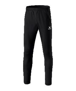 ERIMA 31007-04-05 - Pantalon Entraînement avec Empiècements aux Mollets Homme Enfants Plusieurs Couleurs Tailles Coupe Étroite Poches Latérales Zippées