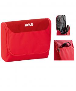JAKO Striker 1716 - Trousse de Toilette Compartiment Principal Spacieux Plusieurs Couleurs Sangle à Accrocher en Position Ouverte Fermeture Éclair à Double Sens