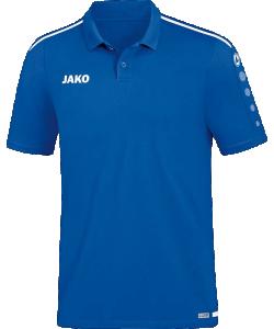 JAKO 6319 Striker 2.0 - Polo Hommes Plusieurs Couleurs Tailles Fermeture à Boutons Tape Contrastant au Cou Rayures Contrastantes