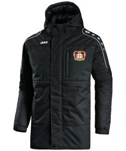 JAKO Bayer 04 Leverkusen BA7197 - Coach Jacket Men Kids Hood Integrated in Collar with Drawstring and Stops Several Colors Sizes Elastic Hem with Sleeves