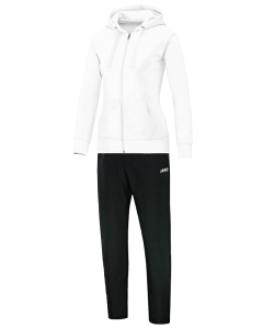 JAKO Team M9733W - Survêtement Jogging Loisir à Capuchon Femme Dames Coutures Flatlock Plusieurs Couleurs Tailles Bord Élastique avec Cordon de Serrage