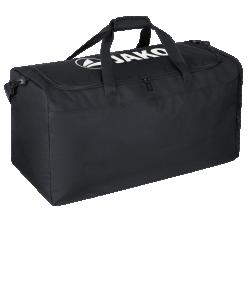 JAKO 2028 - Sac Équipement Noir Taille Unique Compartiment Principal Grand Spacieux avec Fermeture Éclair à Double Sens Bandoulière Amovible Réglable