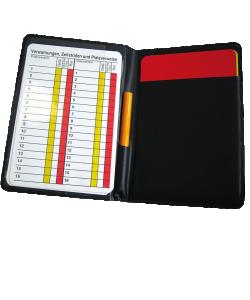 JAKO 2162 - Etui Arbitre Football Sport Couleur Noir Incluant Carton Jaune et Rouge Crayon Cartons de Notes Indispensable Pour Matches