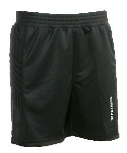 PATRICK PAT281 - Short Gardien de But Football Noir Sport Pour Homme Femme Enfant Plusieurs Tailles Polyester
