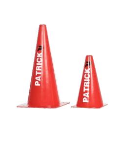 PATRICK ACCON801 - ACCON810 - Cône De Sport en PVC Ultra Résistant Contre Choc ou Chute. Balisage Terrain Jeux Entraînement Sportif. 2 Tailles Petite et Large