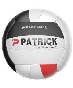 PATRICK VOLLEY805 - Ballon de Volley d'Entraînement Teijin Japan Meilleure Rapport Qualité Prix Pour Équipe Taille T5 Couleur Blanc/Noir/Rouge