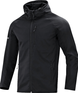 JAKO 7605 - Softshell Light Jacket Men Wind Rain Resistant Several Colors Sizes Zipped Side Pockets Hood with Drawcord Stops