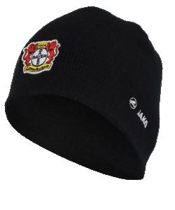 JAKO Bayer 04 Leverkusen BA1289 - Bonnet Noir Coton Femme Homme Enfants 2 Tailles Junior Senior Garde Chaleur en Temps Venteux Froid