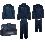 PATRICK STEEL701 - Pack Kit Acier Pour Homme Enfant en Noir ou Bleu Marin Meilleur Choix de Qualité pour Pratique Sport et Football Plusieurs Tailles