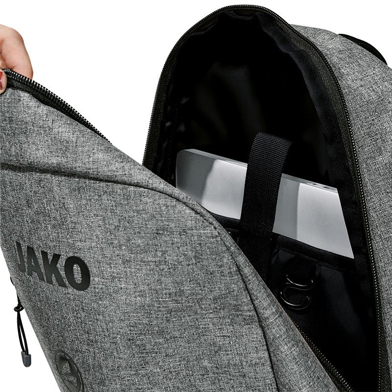 414017521f8 JAKO-1807-40-2 Padded Backpack Champ Mixed Grey Paded Laptop Compartment